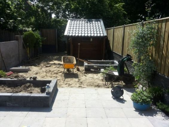 Tuin in opbouw